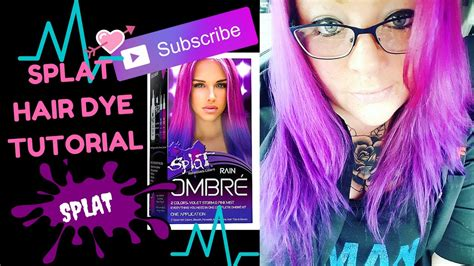 blonde ombre hair color tutorial youtube splat ombre rain hair dye tutorial review and