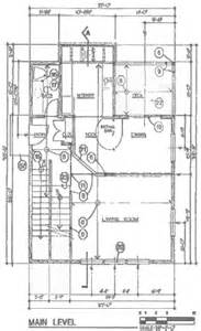 Floor Plan Blueprint house foundation design for a steep slope on a additionally pier and