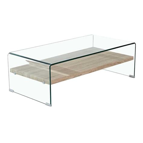 120x60cm 12mm tempered glass coffee table decofurn