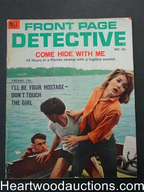 attack the home front detective series books front page detective dec 1962 convict attack