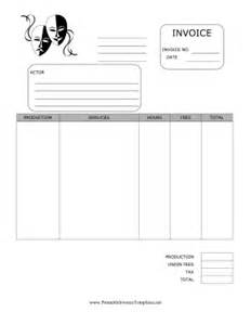 Actor Invoice Template