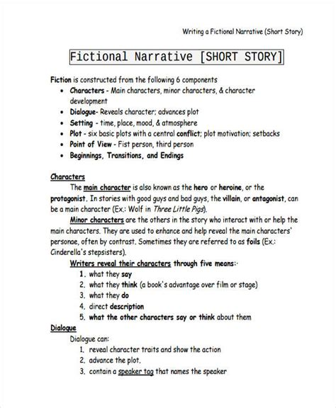 Fictional Narrative Essay Exles by 21 Essay Writing Exles