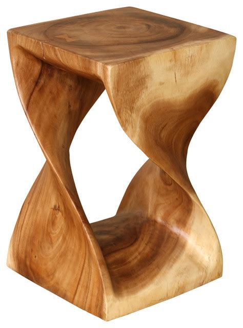 Twist Stool wood twist stool accent and