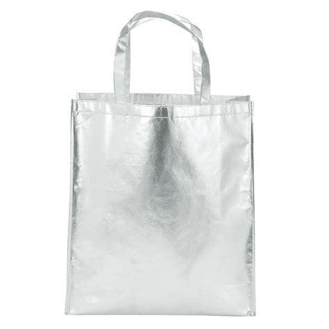Loyd Maish Metallic Tote 2 by Metallic Fashion Tote Bag Logo Branded Items