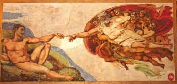 Recreating michelangelo s the creation of adam w cake sprinkles