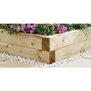 Wooden Sleepers Wickes wickes garden sleeper 1 8m light green wickes co uk