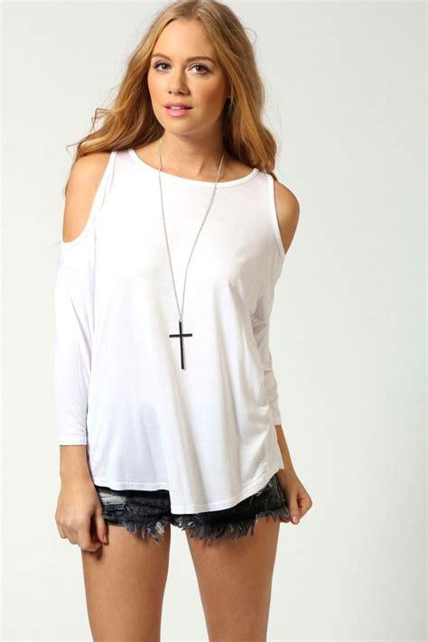 Shoulder Cut Out Shirt cut out shoulder top fashion