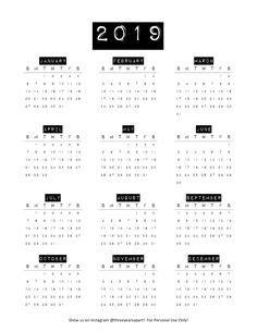 2019-Desk-Calendar-One-Page | SCRAPBOOKING - MATIERES