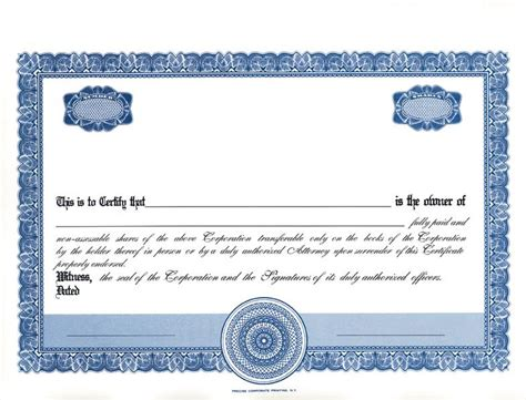 blank stock certificate template best photos of clear stock certificate border template