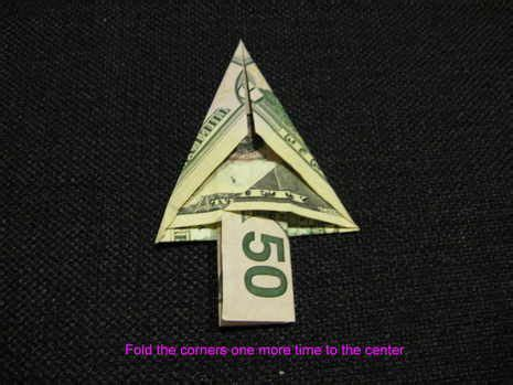 folding money into christmas tree 1000 ideas about money trees on money flowers money origami and dollar bill origami