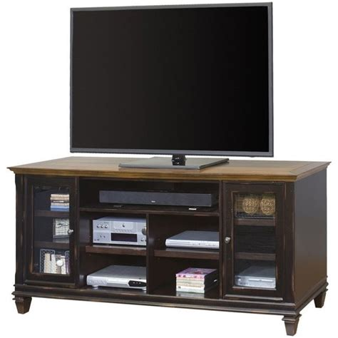 Distressed Black Tv Stand by Martin Furniture Hartford 75 Quot Tv Stand In Two Tone