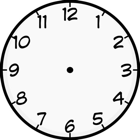 clock templates for telling time clock image printable to learn telling time