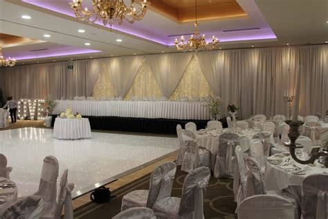 Wedding Draping Lough Rea Hotel Galway Ireland   WOW