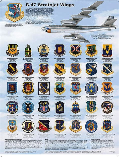 Bomber Patch Sr B 47 Stratojet Bomb Wing Patch Poster