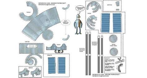 Futurama Papercraft - papermau futurama s bender robot papertoy by papersyco