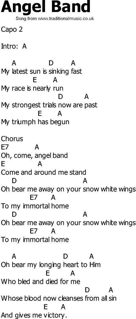 angle song old country song lyrics with chords back in the saddle