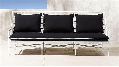 breton white metal outdoor sofa reviews cb