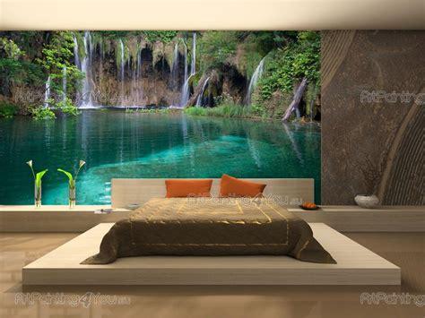 wall mural prints wall murals waterfalls canvas prints posters tropical waterfall 625en