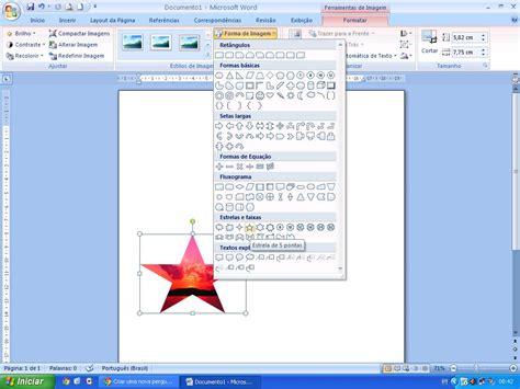 layout no word forma de imagem word 2007 layout de imagem word