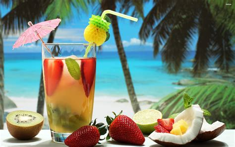 fruity cocktail wallpaper wallpaper wide hd tropical