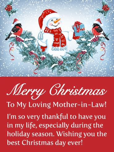 thankful   merry christmas card  mother  law birthday greeting cards  davia