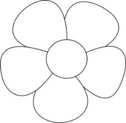 Easy Flower Template by Simple Flower Clip At Clker Vector Clip