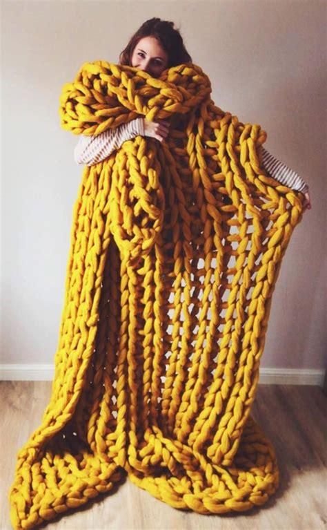 knit aesthetic handmade chunky knit blanket laurenastondesigns on etsy