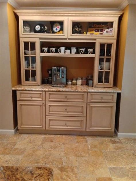 kitchen coffee bar   tuscany kitchen cabinets with