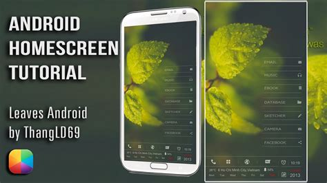 tutorial youtube android leaves android by thangld69 android homescreen