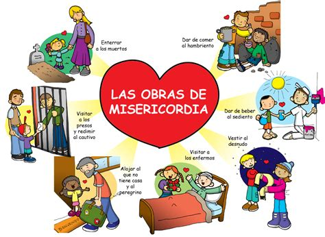 imagenes obras de misericordia espirituales dibujos para catequesis las obras de misericordia