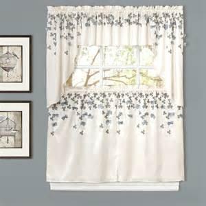 Kitchen Tier Curtains by Lush Decor Flower Kitchen Light Filtering Tier Curtain