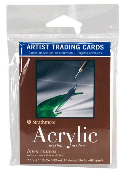 strathmore cards templates strathmore artist trading card pack of 10 acrylic linen