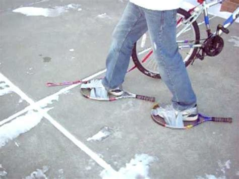 diy snow shoes snowshoes tennis rackets 3 home garden do it