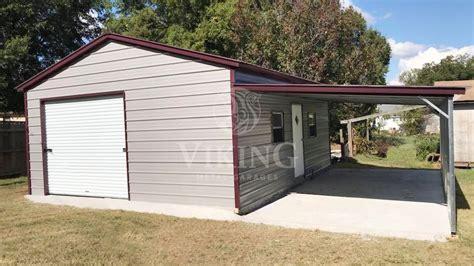 xx vertical roof garage  lean  viking metal