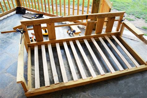 how to build a porch swing bed diy porch swing howtospecialist how to build step by