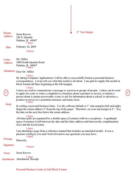 Business Letter Format In Html Letter To And From Format Best Template Collection