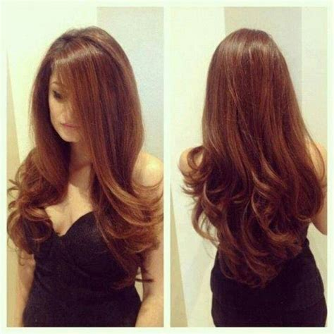 blow drying layered hair for fullness my hair looks almost identical to this when i round brush