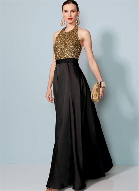 Dress Vogue vogue patterns 1534 misses halter neck pleated floor