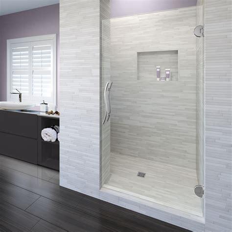 vonse frameless 38inch glass swing shower door basco