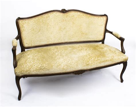 Antique Settee Sofa by Antique Walnut Sofa Settee C 1900