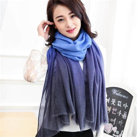 Pashmina Cotton Scarf Murah new arrival 2017 winter scarves shawl pashmina cachecol gradual scarfs foulard cotton