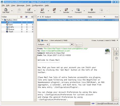 claws mail v3.6.1 (pandora application port) › pandora