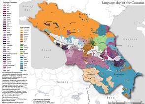 caucasus map dienekes anthropology languages of the caucasus map