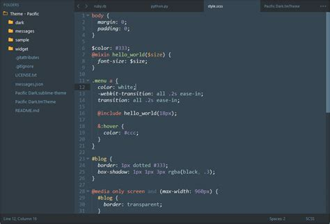 material theme sublime text 3 github github hrsetyono theme pacific sublime 3 theme based on