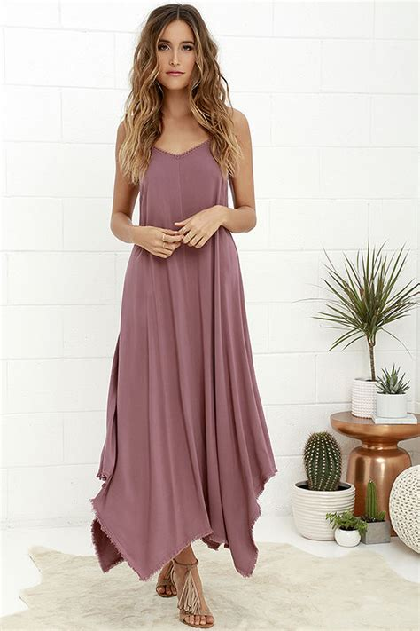 Others Follow Kiara Dress   Mauve Maxi Dress   Strappy Maxi Dress   $57.00