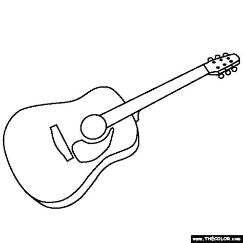 coloring book guitar free coloring pages of guitar outline
