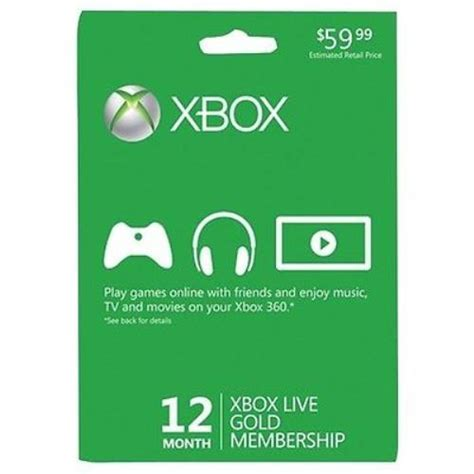 new month card new sealed xbox live 12 month gold membership card ebay