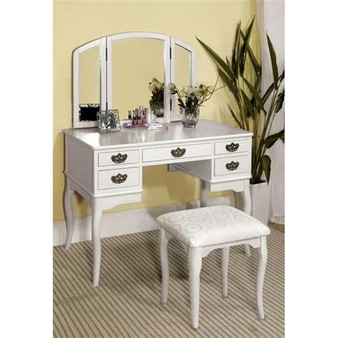 3 Sided Mirror Vanity by Furniture Of America Coriander 3 Sided Mirror Vanity Set