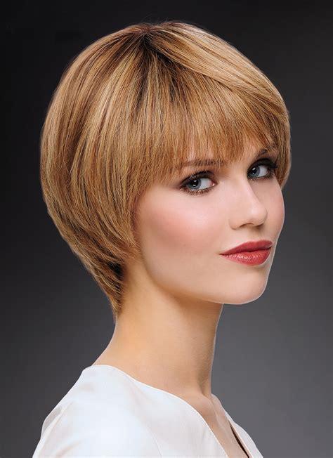 ladies short bob cut synthetic hair wigs