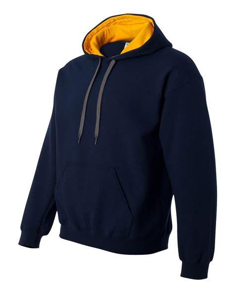 contrast hoodie mhc navy gold contrast hoodie